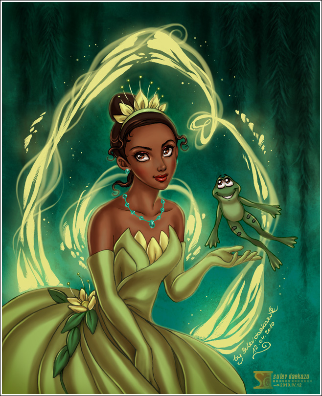 The_princess_and_the_frog_by_daekazu